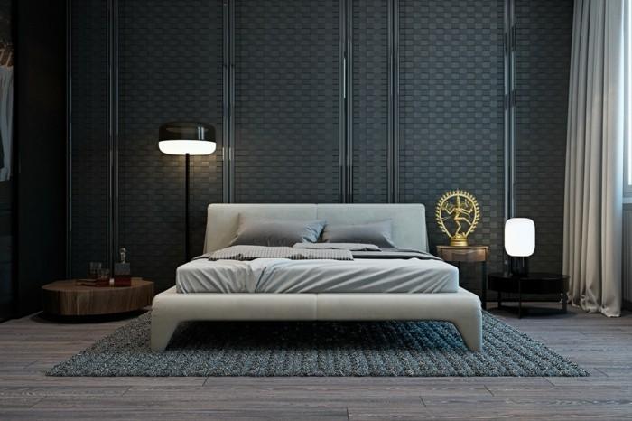 Wohnideen Schlafzimmer Ausgefallener Bodenbelag Und Schöner Teppich Schicke  Wandgestaltung 111 Wohnideen Schlafzimmer Für Ein Schickes Innendesign ...