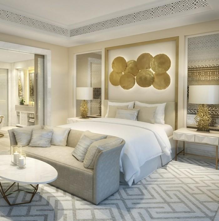 wohnideen schlafzimmer stilvolles design in neutralen farben