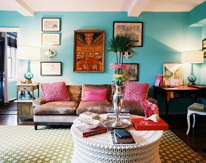 wohnideen wohnzimmer dekoideen für die wohnzimmerwand und frische wandfarbe