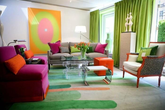 wohnideen wohnzimmer farbige dekoideen für den modernen wohnbereich