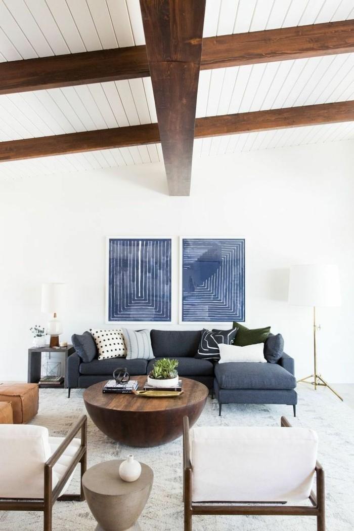 einrichtungsideen wohnideen wohnzimmer mit akzenten in blau