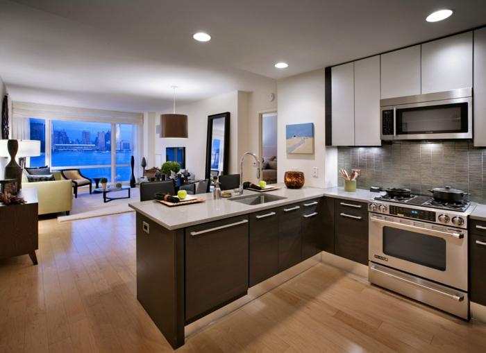 wohnküche in stilvollen braunnuancen gestalten