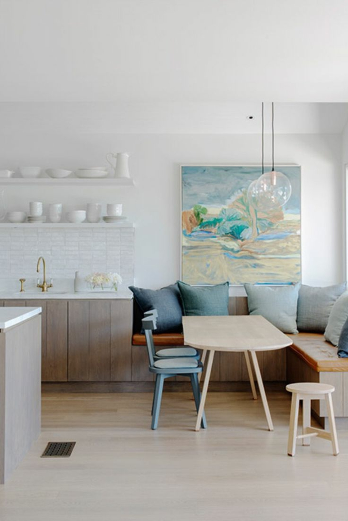 wohnküche gemütliche küche mit offenem wohnplan