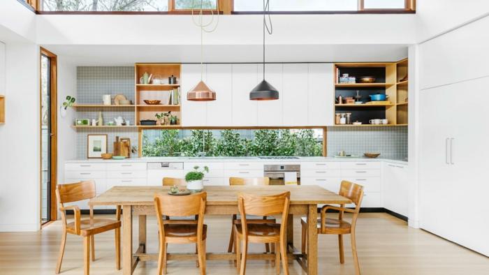 wohnküche küche und essbereich miteinander kombinieren