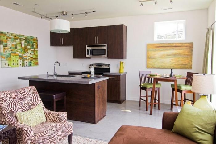 Perfekt Wohnküche Kleine Küche Mit Essbereich Und Wohnbereich Erfolgreich  Kombinieren Offene Küche U2013 44 Ideen, Wie