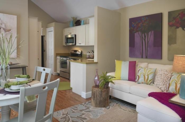 wohnküche kleine raumfläche mit funktionaler abteilung der bereiche