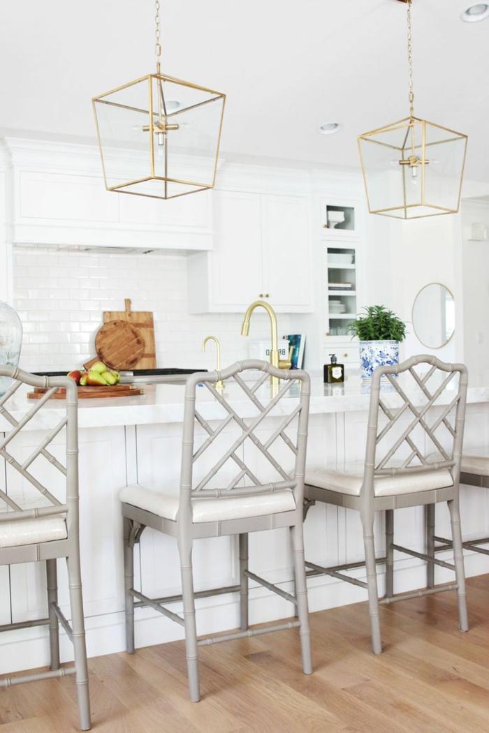 wohnküche offener wohnplan moderne kücheneinrichtung in weiß