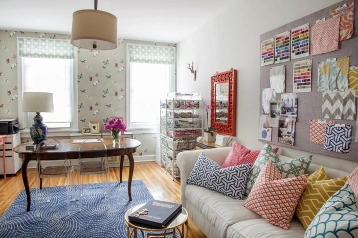 wohnzimmer gestalten extravagante dekoideen und schöne muster