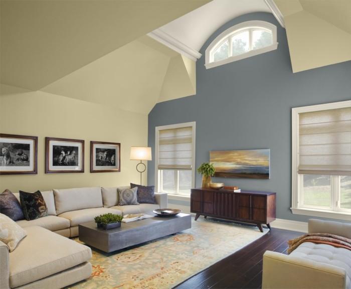 wohnzimmer gestalten stilvolle wanddeko und schicke dekokissen