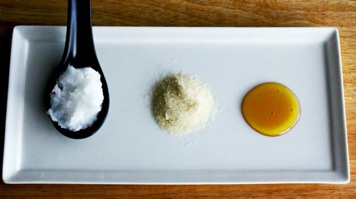 zucker kokosöl gesichtspeeling selber machen