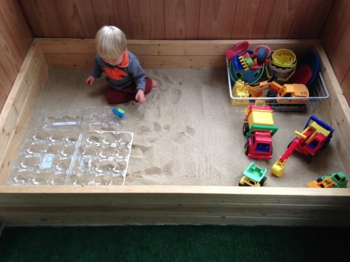Sandkasten selber bauen schlidkröte indoor