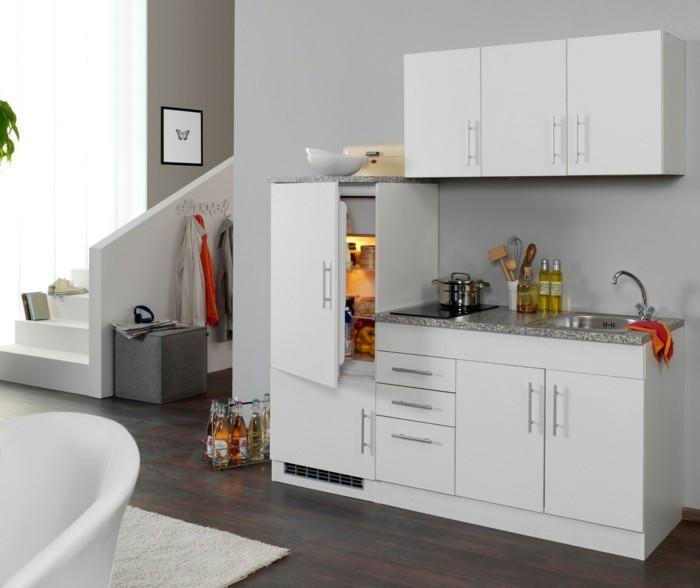Singleküchen Kühlschrank und stauraum moebel guenstig