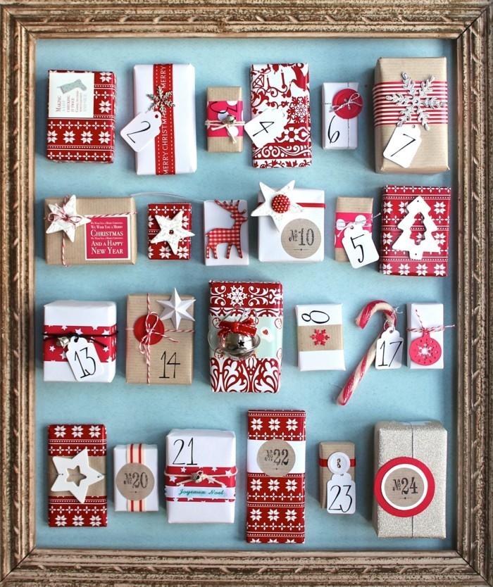 adventkalender im bilderrahmen basteln