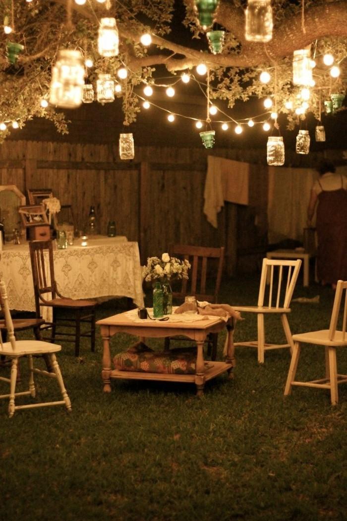 deko selber machen für den garten vintage leuchterketten