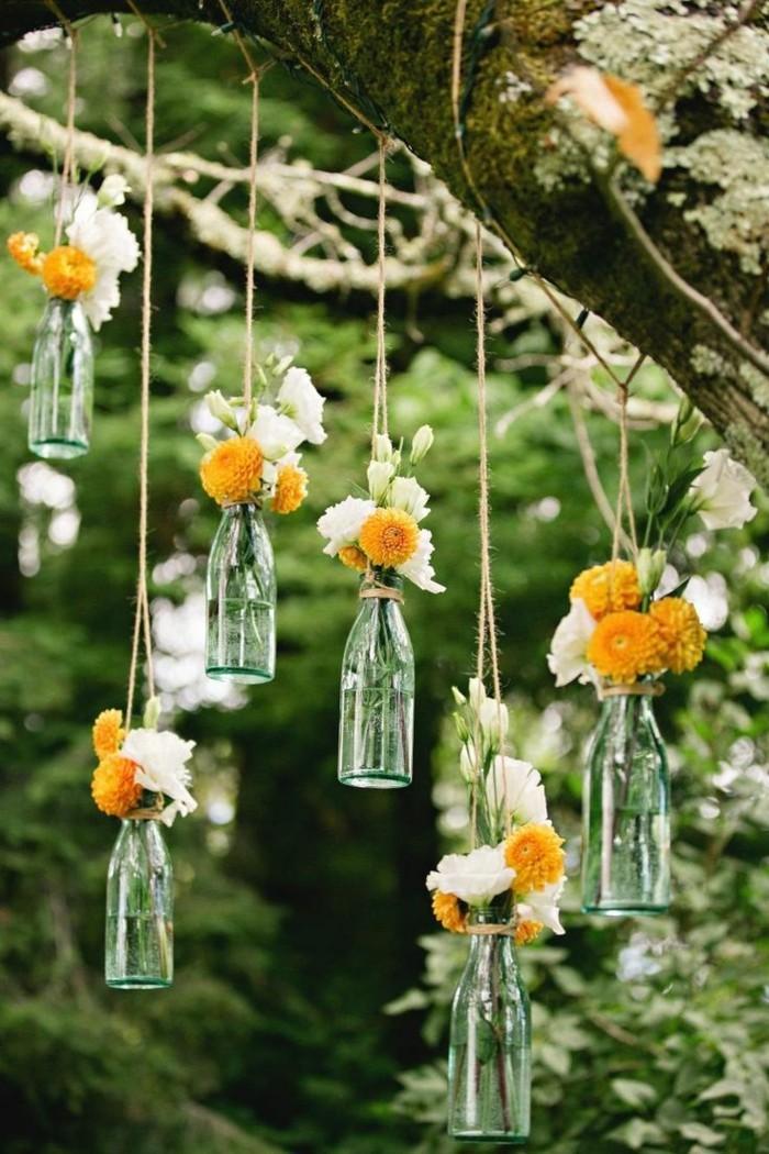 deko selber machen für den garten vintage und romantische deko mit flaschen