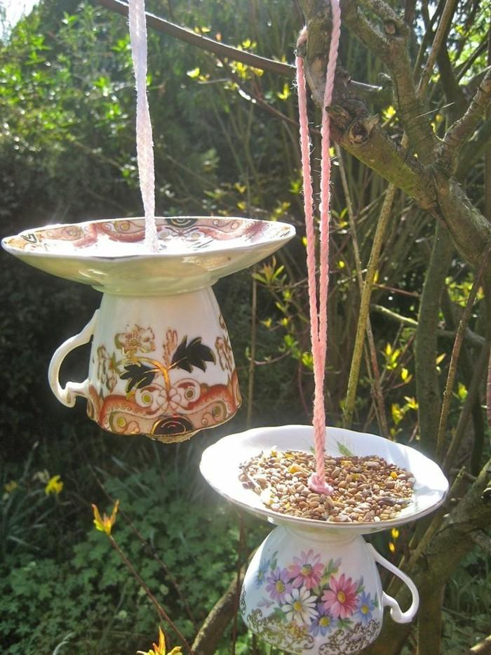 deko selber machen teetassen und teller benutzen