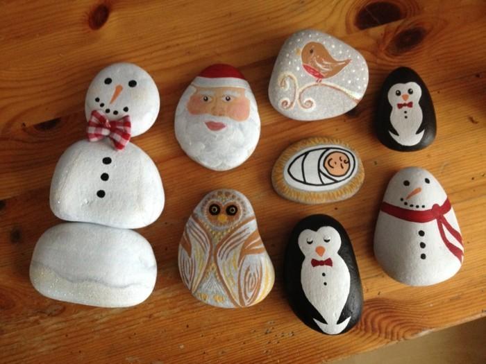 diy ideen für den garten im winter steine bemalen