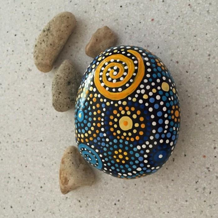 diy ideen steine bemalen farbig machen