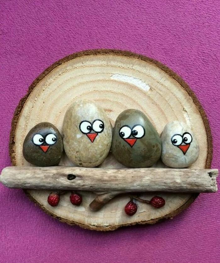 einfache idee für kinder steine bemalen