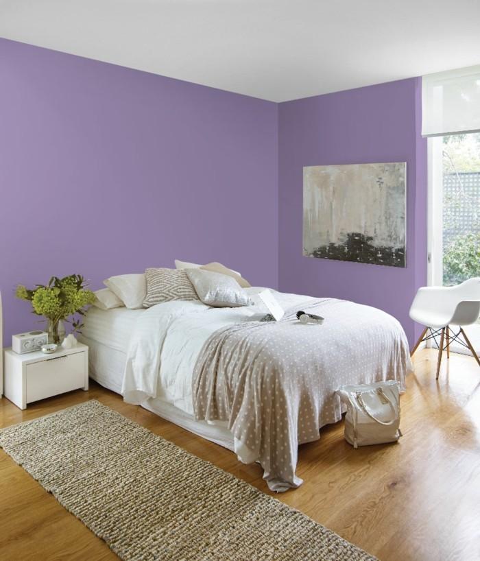 einrichtungsidee für das moderne schlafzimmer lila eignez sich schön als wandfarbe