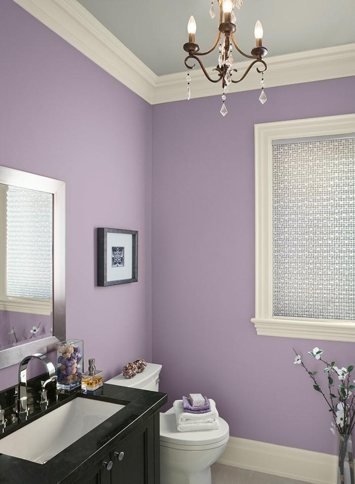 einrichtungsideen das badezimmer in lila gestalten