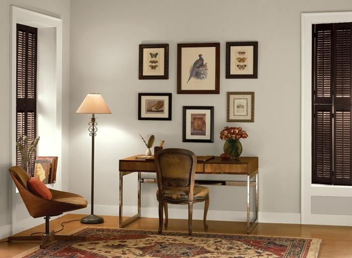 einrichtungsideen für das home office neutrale farbgestaltung ideen
