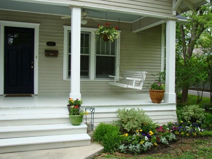 einrichtungsideen für das patio schaukel für eine schöne erholung