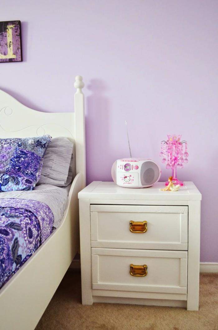 einrichtungsideen für das schlafzimmer in violett
