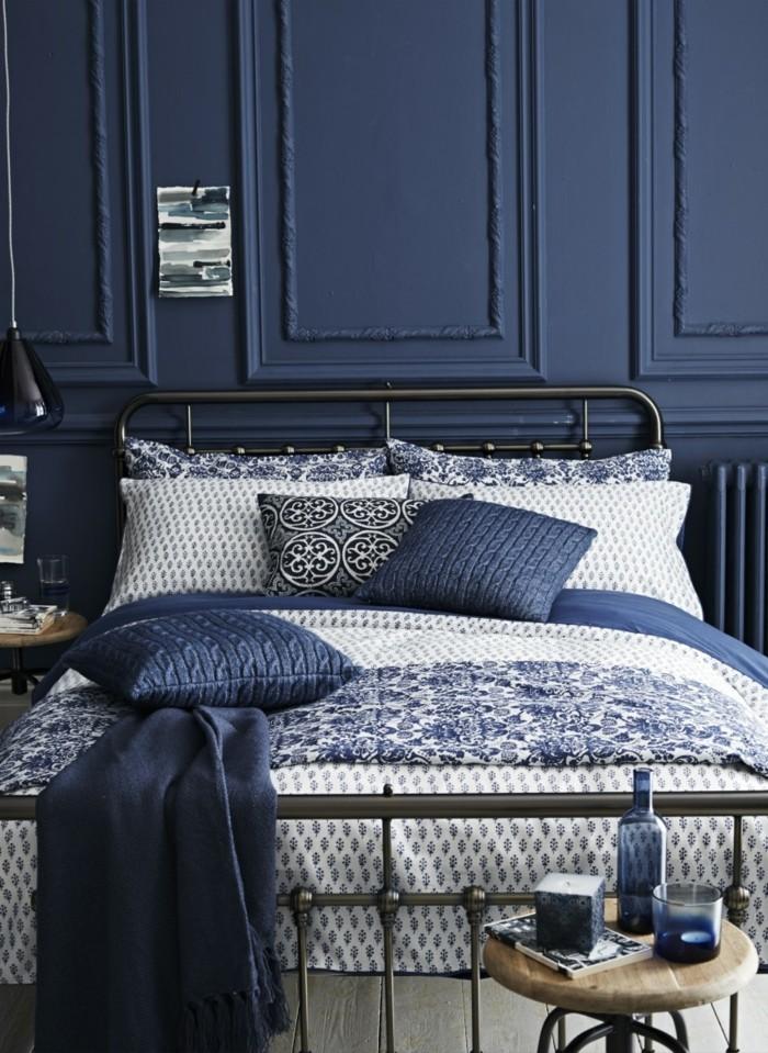 einrichtungsideen im schlafzimmer Vintage Navy blue