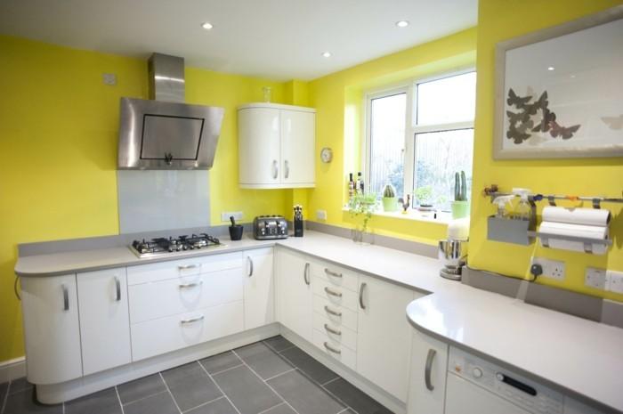 einrichtungsideen in gelb die küchenwände gelb streichen