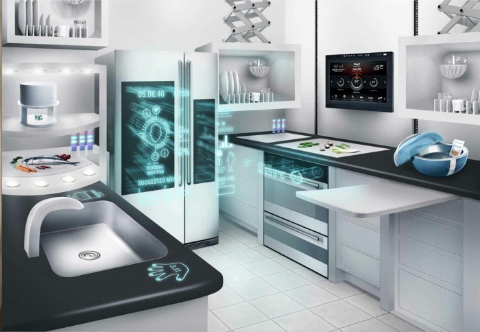 elektrosmog super moderne küchengeräte in der zeitgenössischen küche