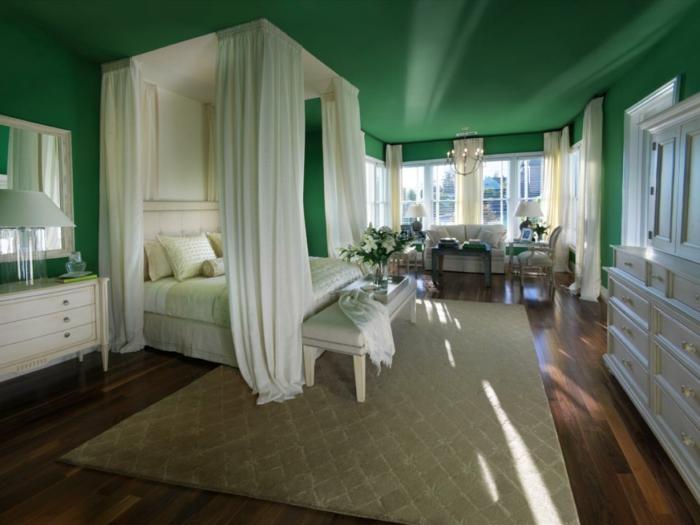 farben erdige nuancen im schlafzimmer setzen grün eignet sich hervorragend dafür