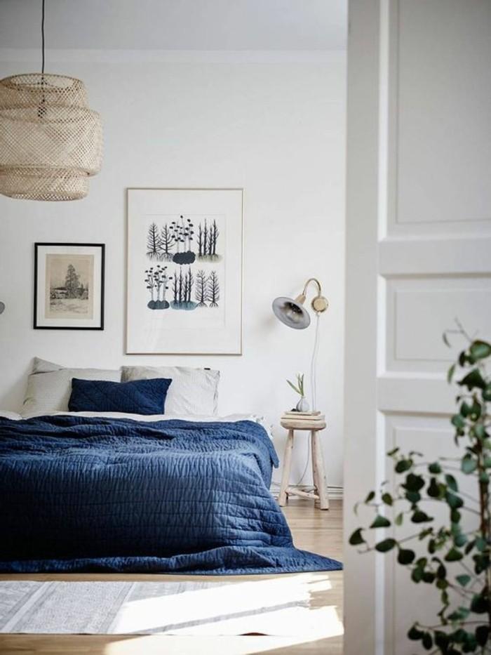 farben gekonnt im schlafzimmer benutzen indigo für die bettwäsche
