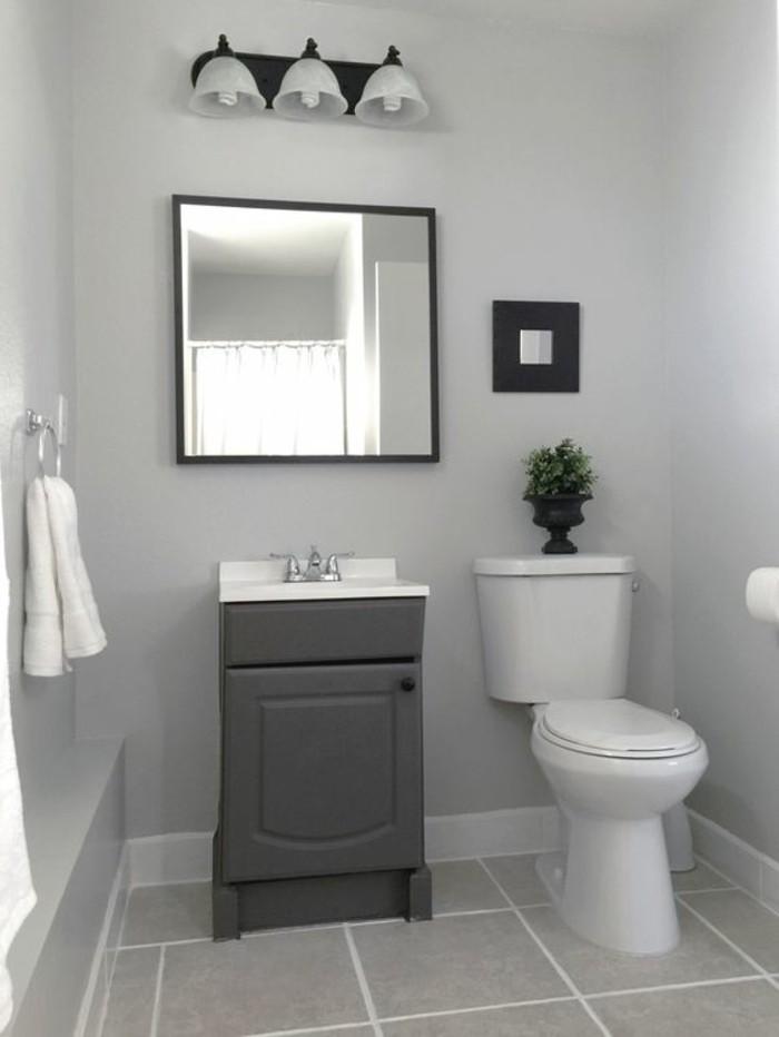 farben graue wandfarbe im badezimmer und akzente in dunkelgrau