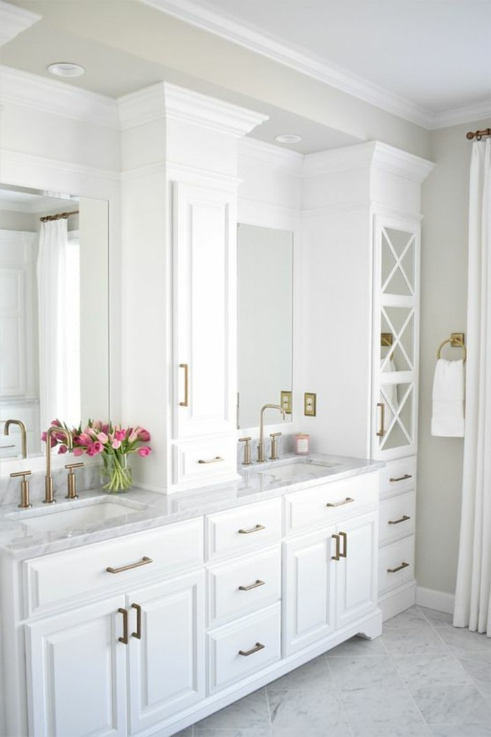 farben im modernen badezimmer White Dove