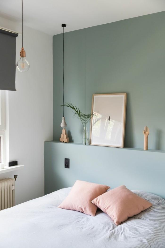 farben im schlafzimmer altrosa accessoires und hellgrüne wände sind eine herrliche kombination