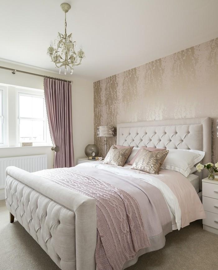 farben im schlafzimmer altrosa textilien mit natürlichen farben kombinieren