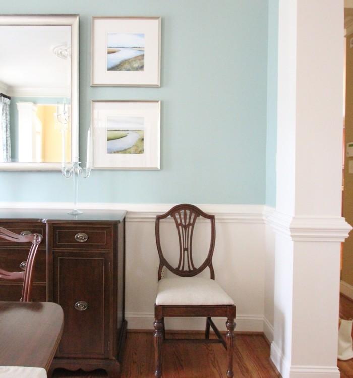 farben kontraste zwischen der wandfarbe und den möbeln