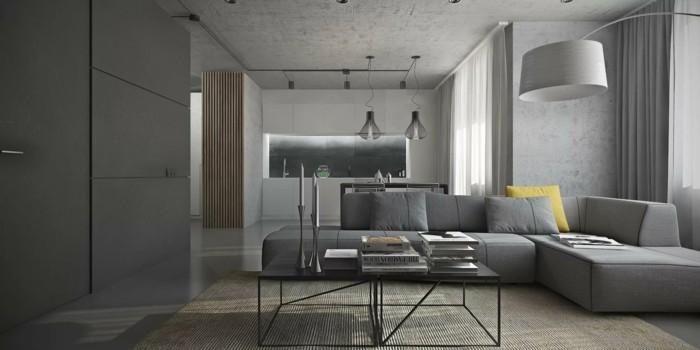 farben modernes wohnzimmer in grau gestalten