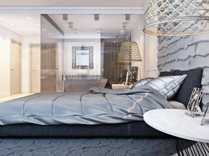 farben schlafzimmer ideen in grau