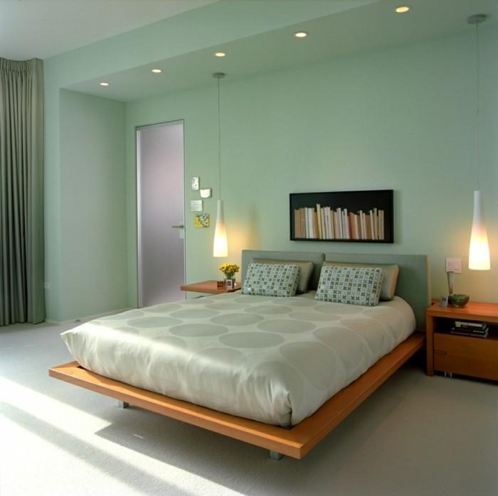 farben trendige ideen in grün für das schlafzimmer