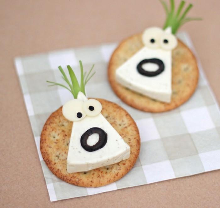 fingerfood kindergeburtstag salzig käse crackers