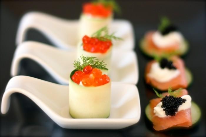 fingerfood rezepte rúcherlachs kaviar