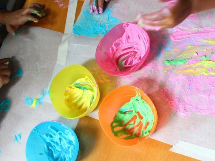 fingermalfarben ideen für kleinkinder