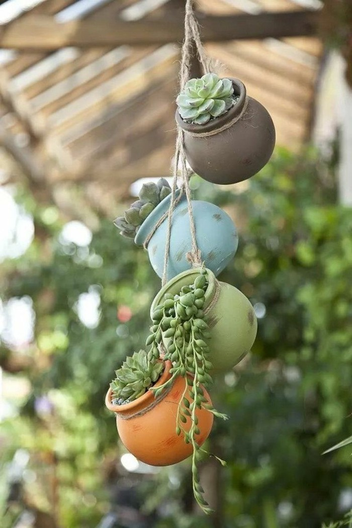 gartendeko selbstgemacht kreative gartenideen mit pflanzenbehältern