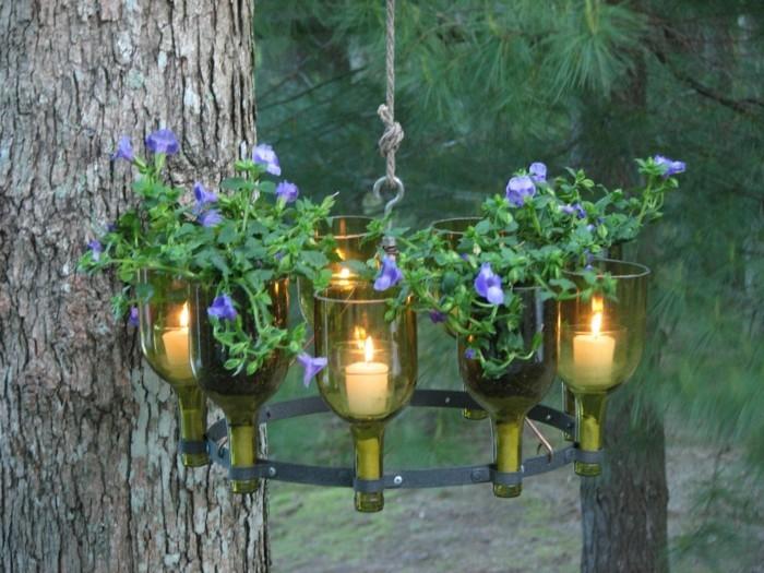 Gartendeko selbstgemacht basteln  Gartendeko selbstgemacht - 53 Ideen für Leuchter und andere ...