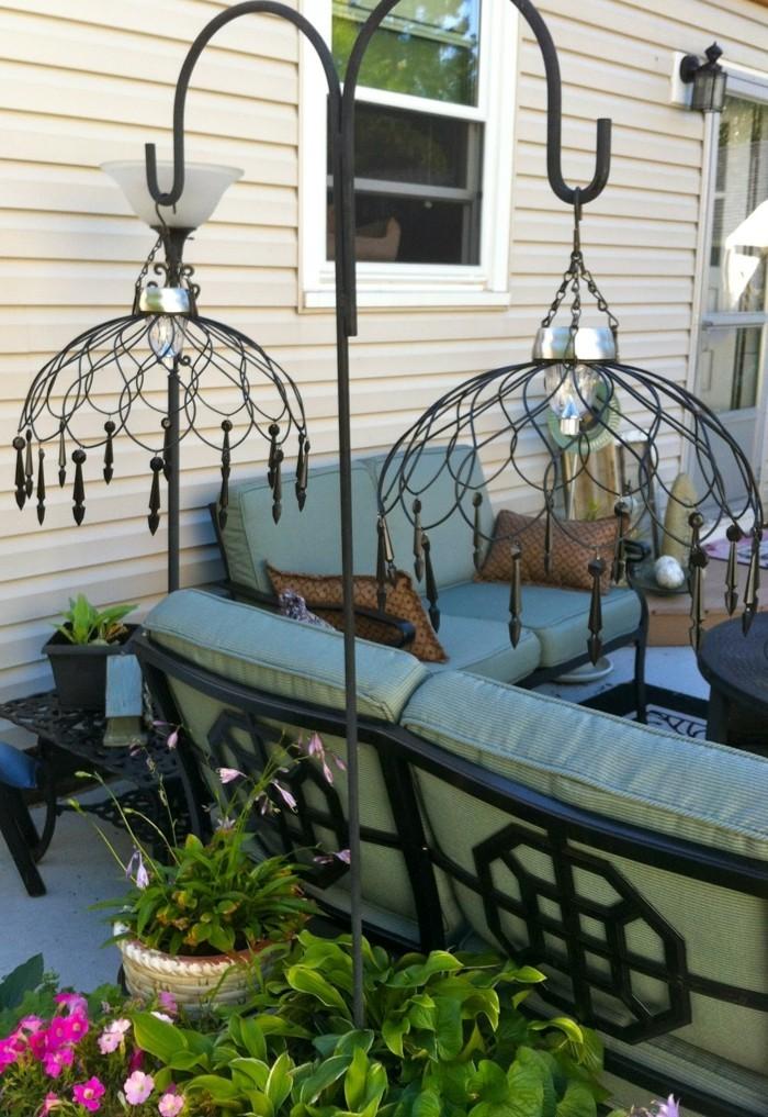 gartendeko selbstgemacht 53 ideen f r leuchter und. Black Bedroom Furniture Sets. Home Design Ideas