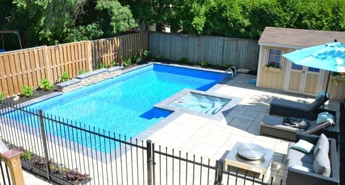 gartenideen mit schwimmbad entspannung pur im sommer