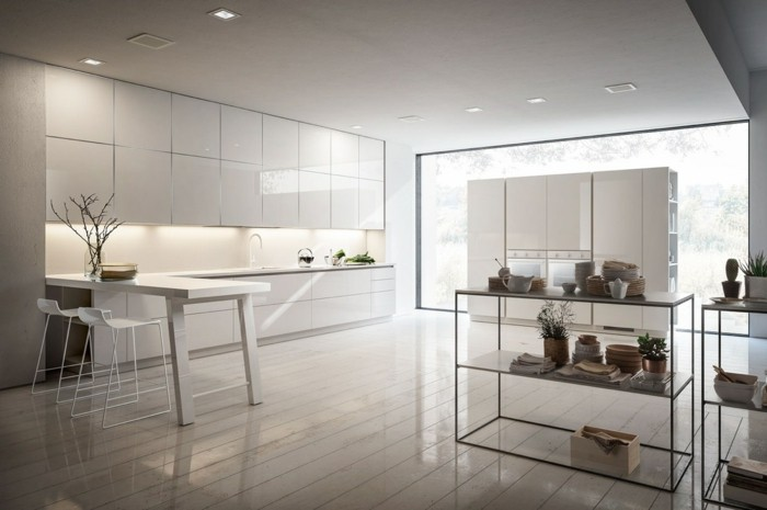 glanzvolle oberflächen in edler küche