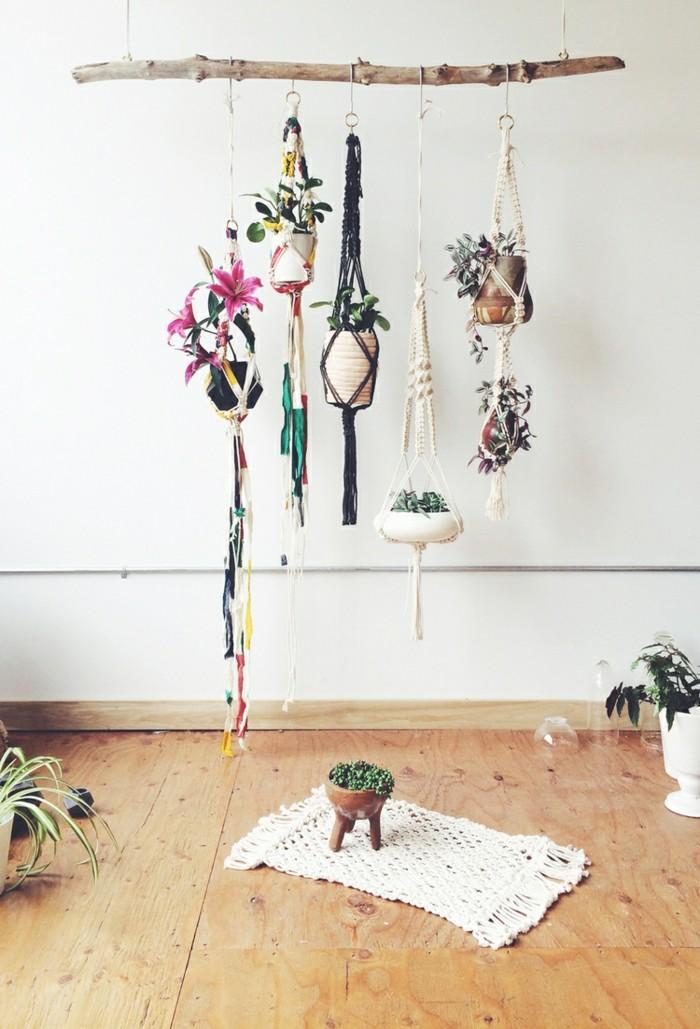 makramee blumenampel selber machen 40 ideen wie sie ein frisches flair in den raum bringen. Black Bedroom Furniture Sets. Home Design Ideas